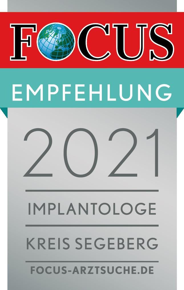 Zertifizierung – Focus Empfehlung 2021